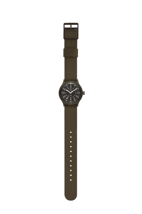 MK1 36mmミリタリーインスピレーションを得たグログランストラップウォッチ , Timex   Slowear