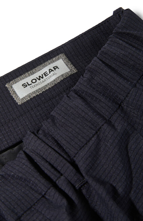 Slim-fit Tech Mesh fabric trousers with elastic waist and leg bottom , Slowear Teknosartorial | Slowear