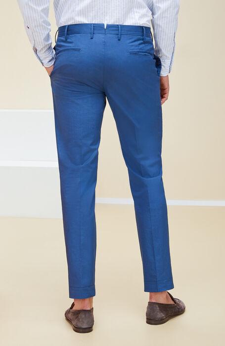 Blue slim fit stretch cotton poplin trousers , Incotex - Venezia 1951 | Slowear