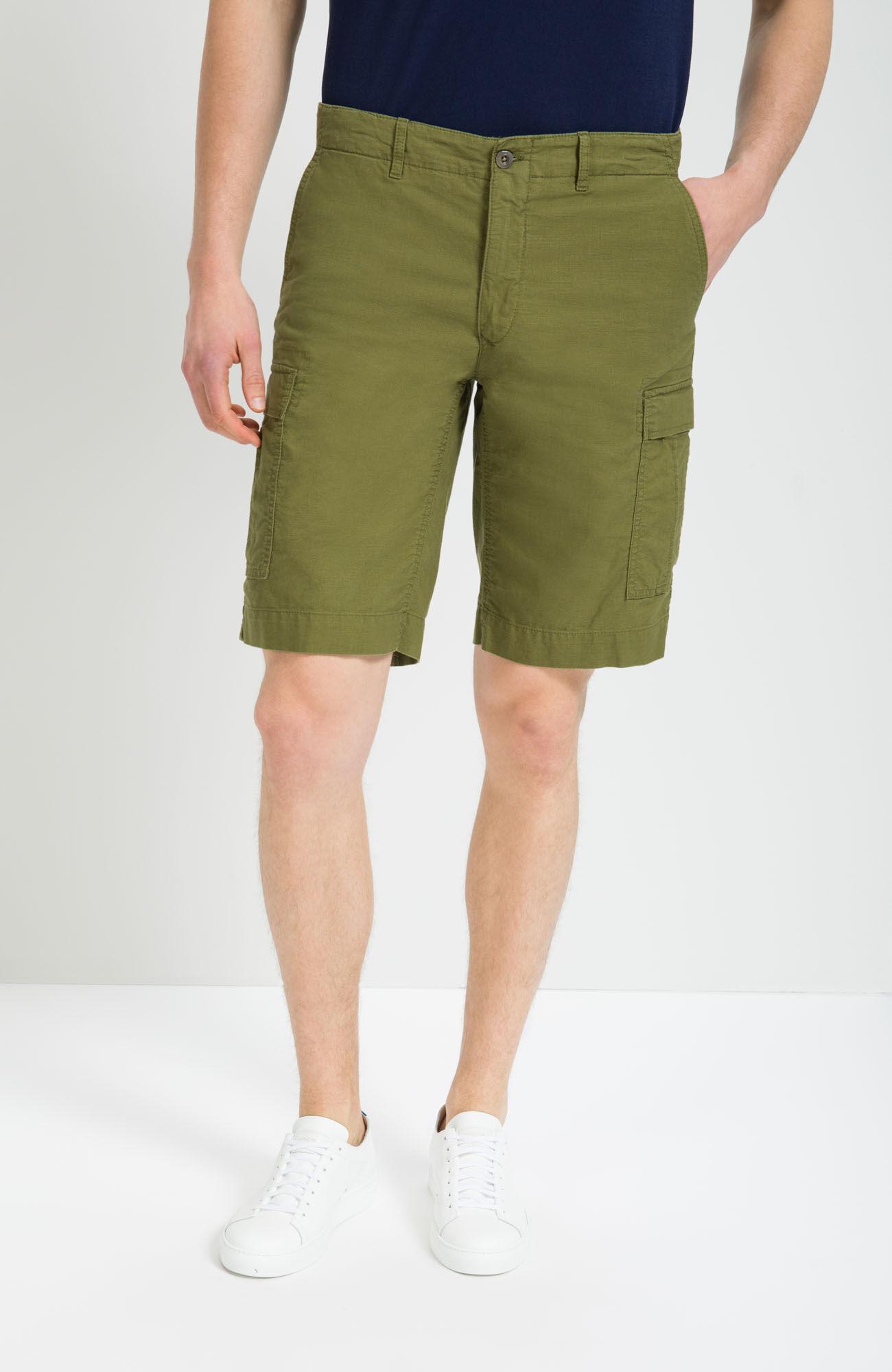 Fit Cargo Green Shorts Regular Bermuda Ybfy76g