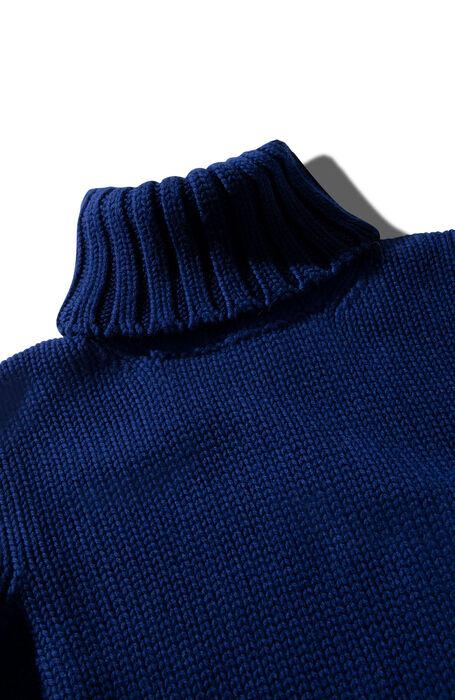 Slim fit turtleneck in blue merino wool , Zanone | Slowear