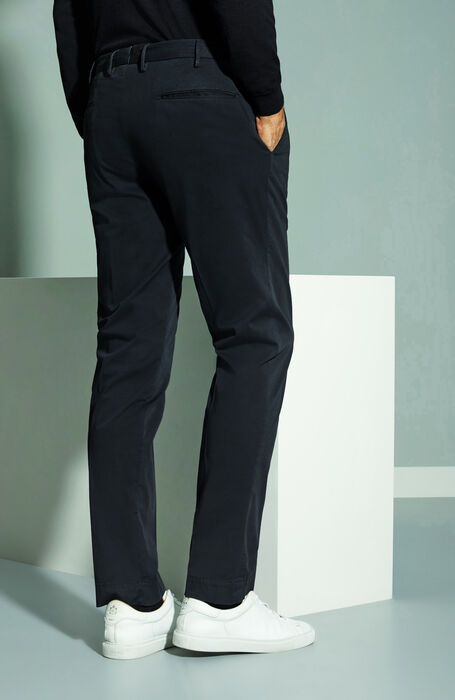 Pantalone slim fit in cotone stretch Royal Batavia blu scuro , Incotex - Venezia 1951 | Slowear