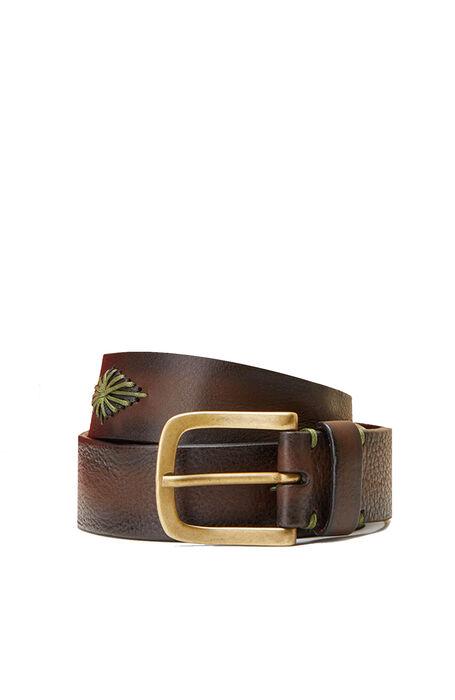Suede Calfskin Belt with Embroidered Diamonds , Officina Slowear | Slowear