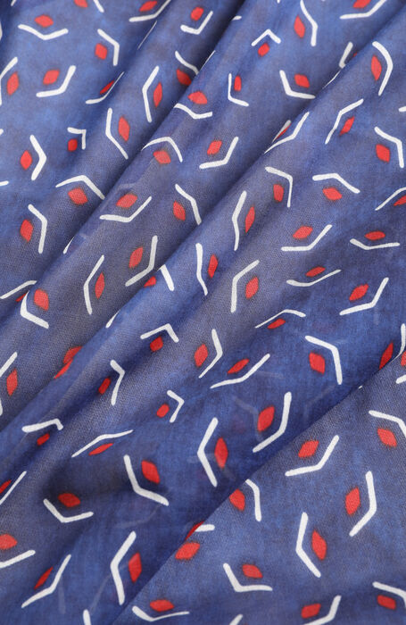 Clutch printed in silk cotton muslin , Officina Slowear | Slowear