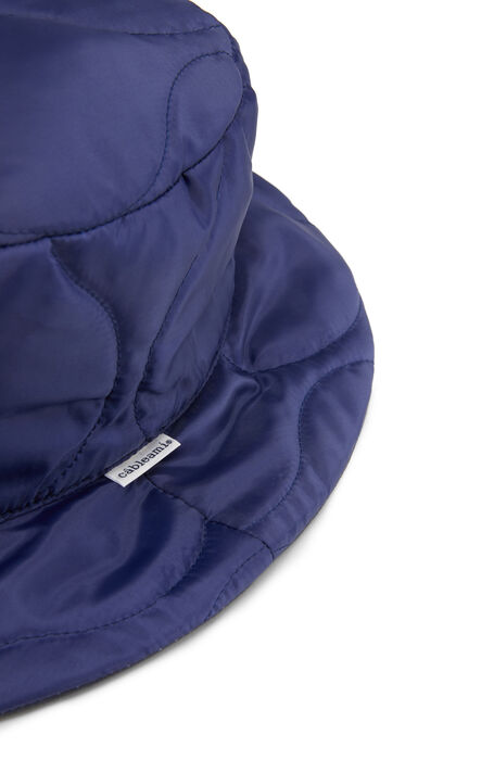 Reversible bucket hat in technical fabric and blue cotton , Cableami   Slowear