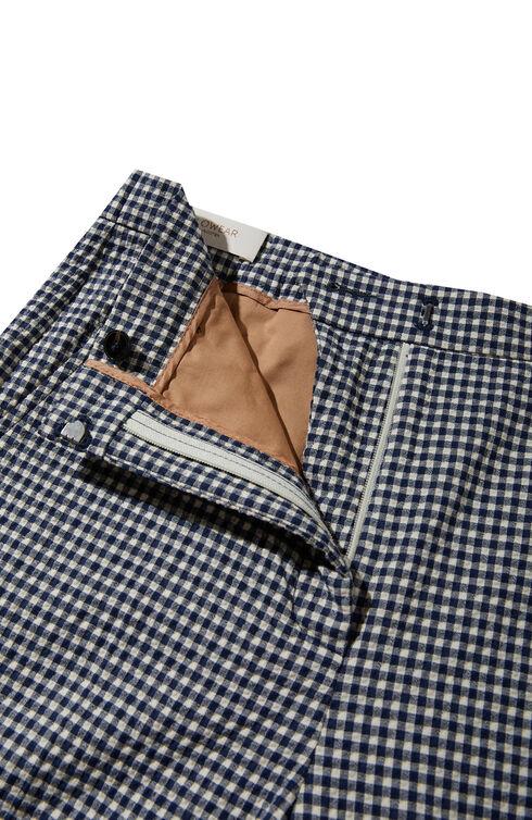 Regular fit trousers in stretch cotton seersucker , Slowear Incotex | Slowear