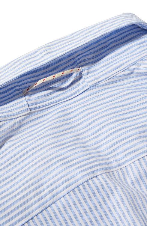 Slim-fit shirt with French collar in wash&wear technical fabric , Glanshirt | Slowear