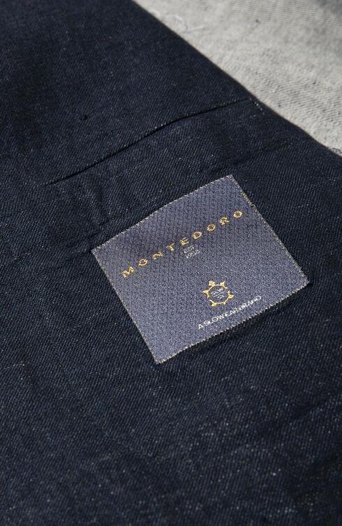 Single-breasted slim-fit unlined denim cotton jacket , Montedoro   Slowear