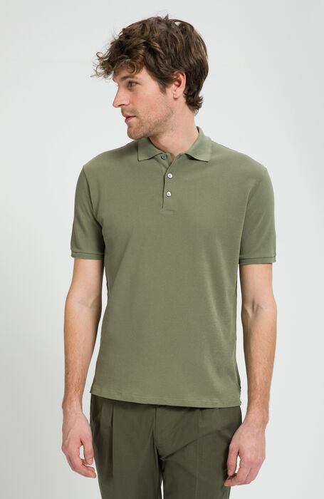 Coste Garment-Dyed IceCotton Pique Short Sleeve Polo , Zanone | Slowear