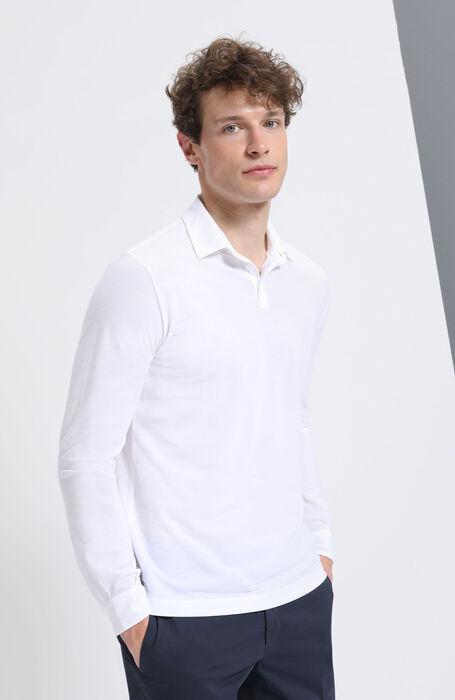 "Long-sleeved polo shirt in Zanone ""IceCotton"" , Zanone | Slowear"