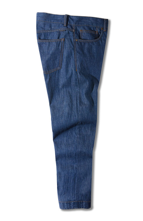 Slim-fit cotton five-pocket denim trousers , Indigochino | Slowear