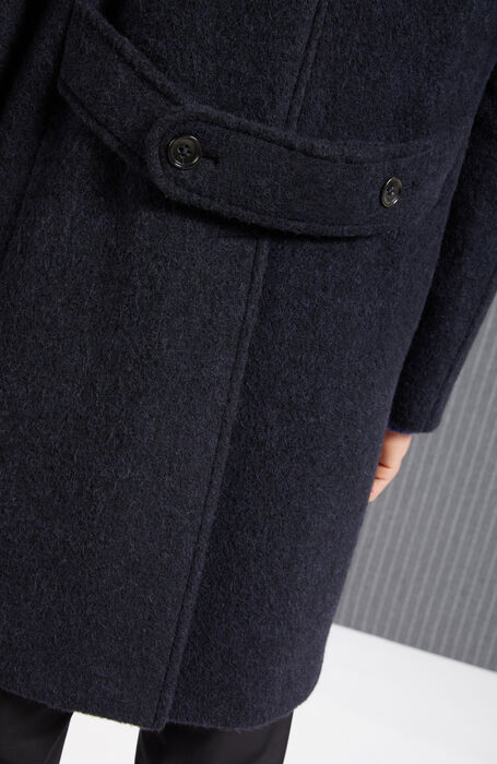 Cappotto doppiopetto foderato in lana di Alpaca , Montedoro | Slowear