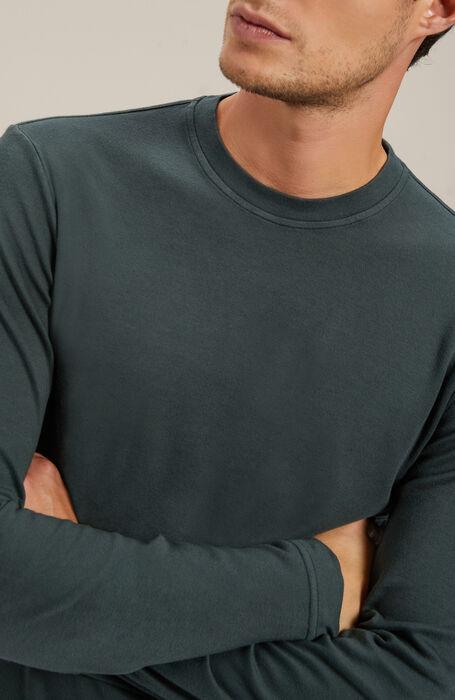 Long-sleeved cotton jersey Interlock T-shirt , Zanone   Slowear