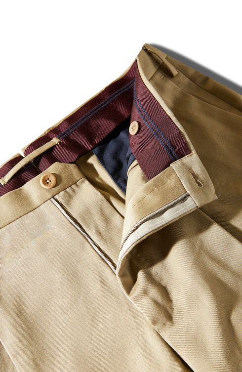 Carrot fit walnut cotton twill trousers , Incotex - Venezia 1951 | Slowear