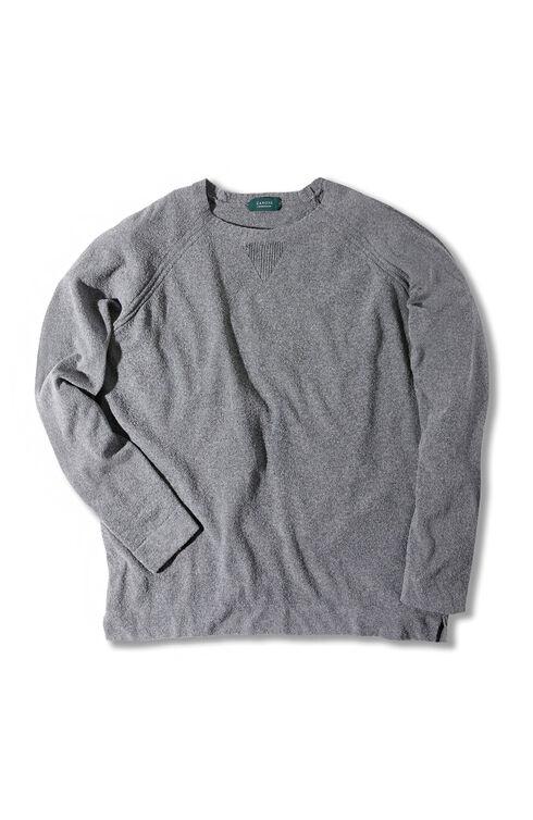 Long-sleeve regular-fit cotton bouclé sweater , Zanone | Slowear