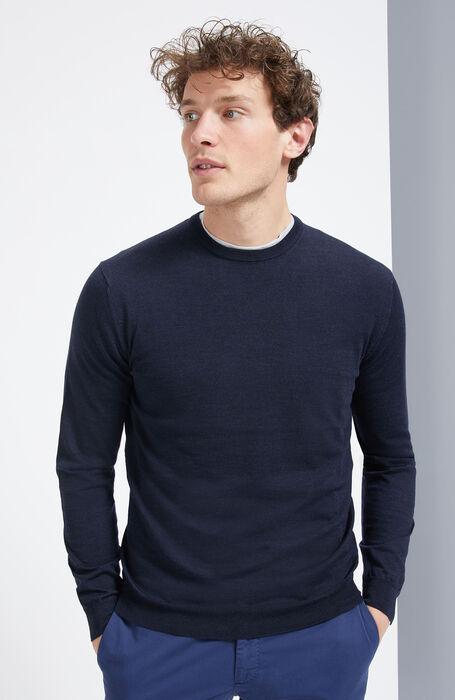 Crew-neck sweater in Flexwool , Zanone | Slowear