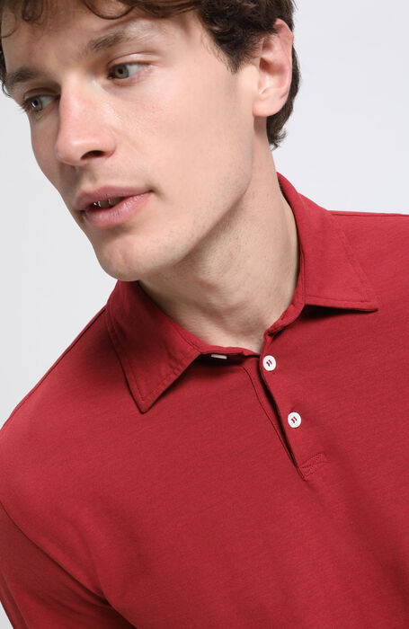 "Long-sleeved polo shirt in ""IceCotton"" , Zanone | Slowear"