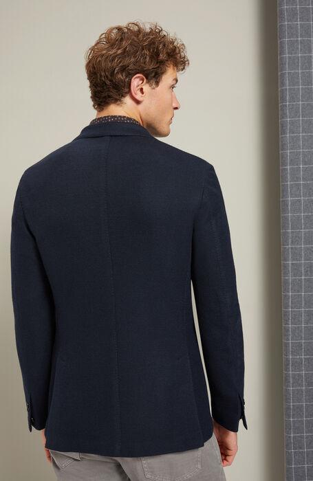 Single-breasted jacket in jersey hopsack , Montedoro | Slowear
