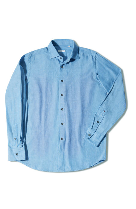 シャンブレー フレンチカラー スリムフィットシャツ , Glanshirt | Slowear
