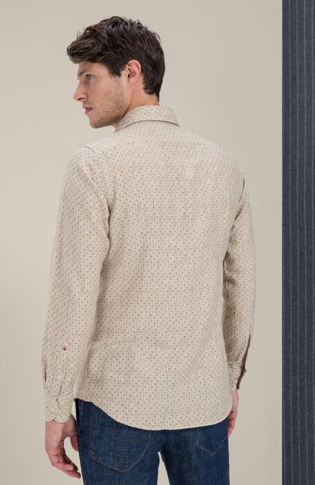 Slim-fit shirt in French cotton-wool collar , Glanshirt | Slowear