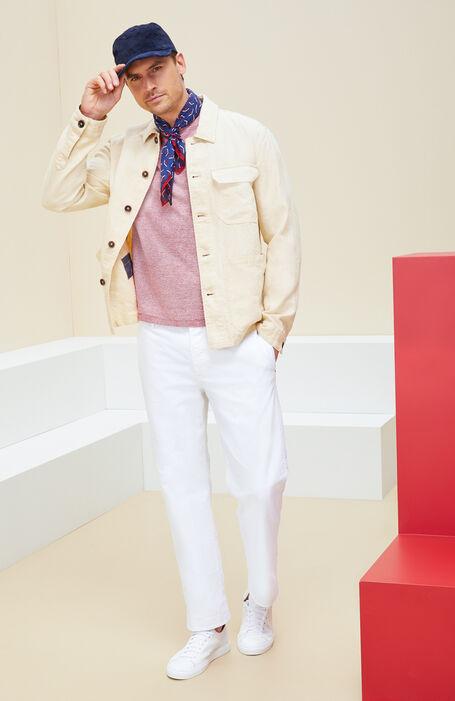 Unlined beige linen blouse , Montedoro | Slowear