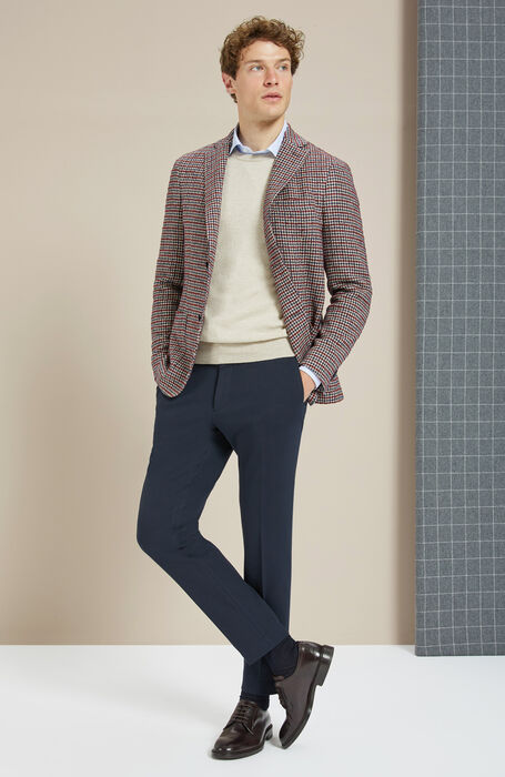 Natural while wool and cashmere crew-neck , Zanone | Slowear