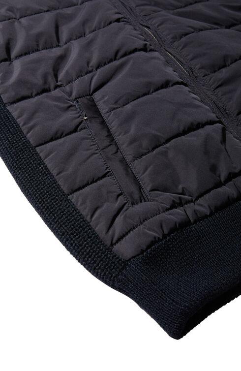 Wool and technical fabric padded vest , Zanone | Slowear