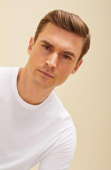 T-shirt manica lunga in IceCotton bianca , Zanone | Slowear