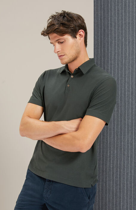 "Short-sleeved polo shirt in Zanone ""IceCotton"" , Zanone | Slowear"