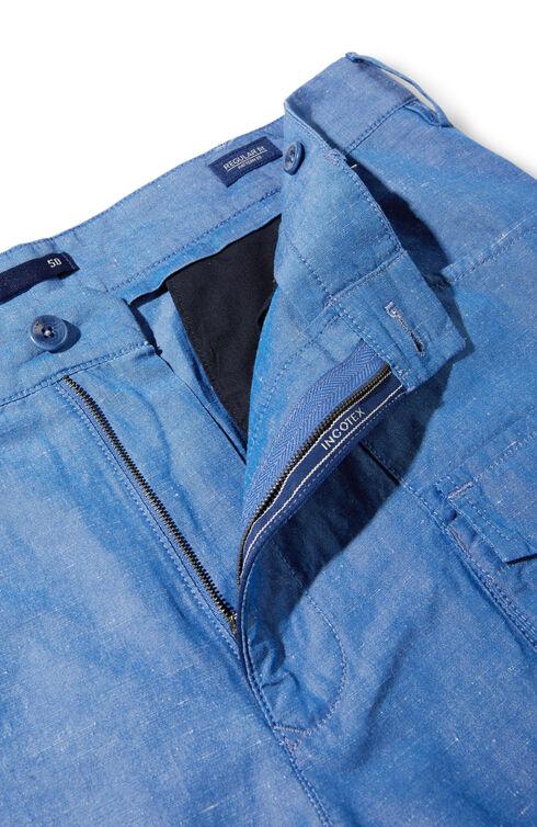 Cargo Bermuda Shorts in Cotton and Linen , Incotex - Venezia 1951 | Slowear