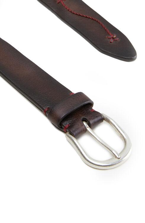 Calfskin belt with red embroidery , Officina Slowear | Slowear