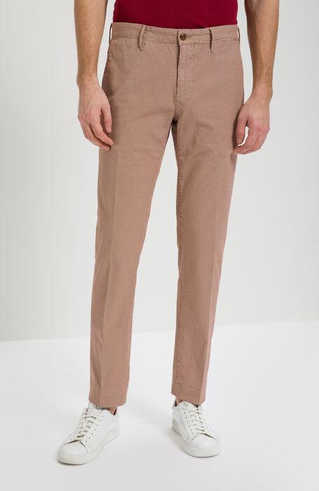 765d5c76bb56f2 Slim Fit Trousers with Micro Pattern , Incotex - Slacks | Slowear