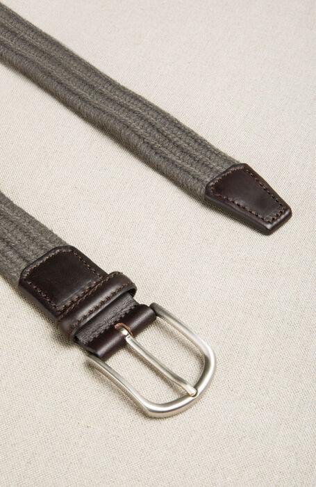 Braided wool belt with leather details , Officina Slowear   Slowear
