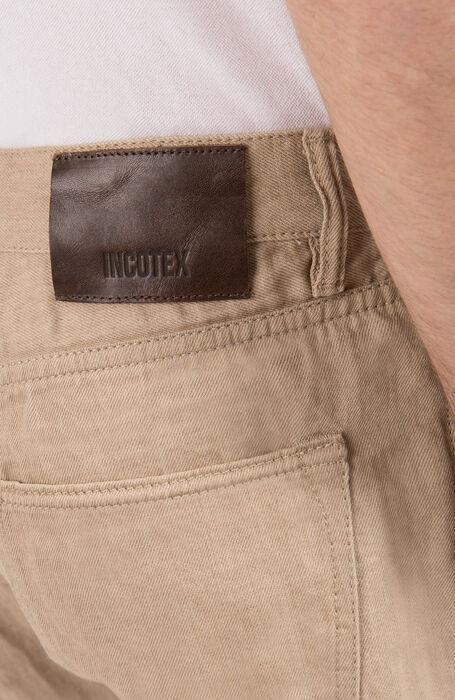 Pantalone Slim Fit in Cotone Lino , Incotex - Cinque Tasche | Slowear