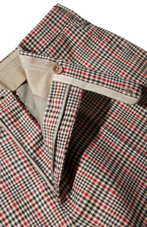 Slim fit cloud cotton trousers , Incotex - Venezia 1951 | Slowear