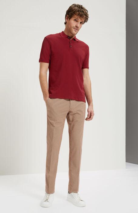 Slim Fit Trousers with Micro Pattern , Incotex - Slacks | Slowear