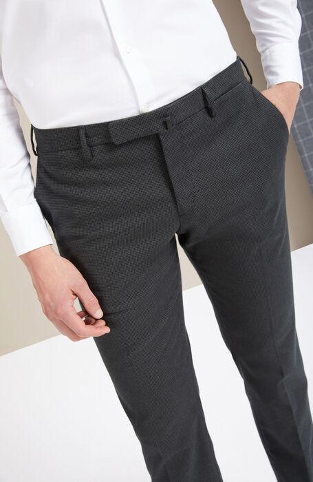 Pantalone slim fit in cashmere touch verde , Incotex - Venezia 1951 | Slowear