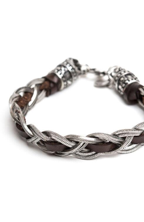 Flat Braid + Leather Bracelet , Officina Slowear | Slowear