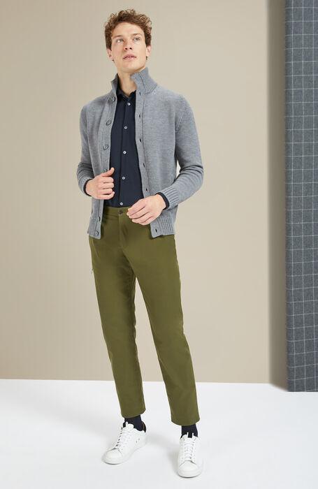 Technical fabric slim-fit trousers with Alcantara insert , Incotex - Urban Traveller | Slowear