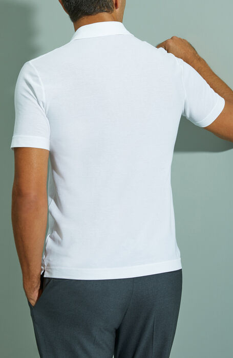 White short-sleeved Ice Cotton polo shirt , ZANONE Icecotton | Slowear