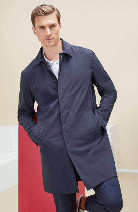 Packable trench coat in cool touch technical fabric  , Urban Traveler | Slowear