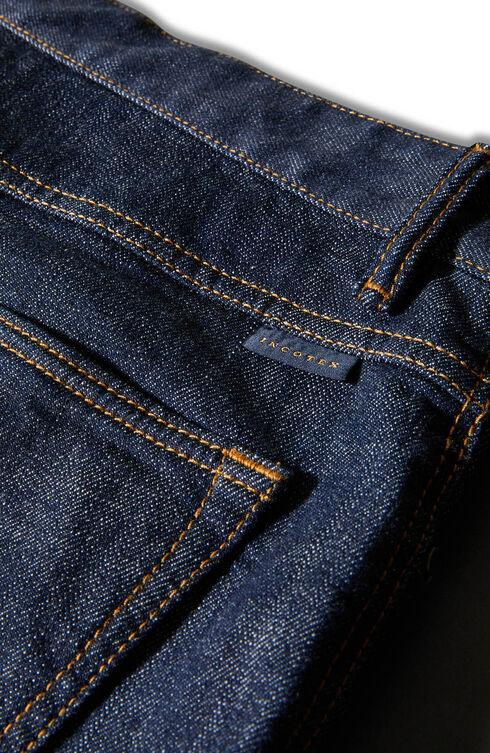 Five-pocket regular fit stretch denim trousers , Indigochino   Slowear