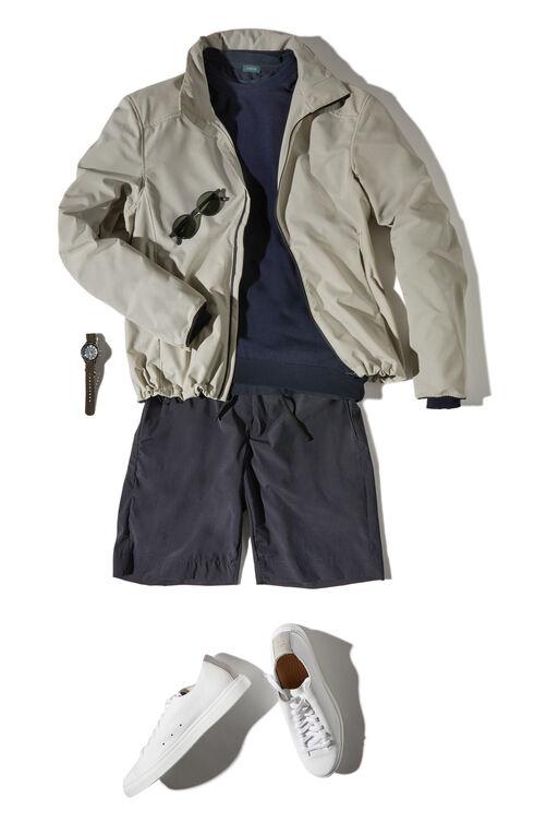 Regular Fit Bermuda Shorts in Cool Touch Technical Fabric , Urban Traveler | Slowear