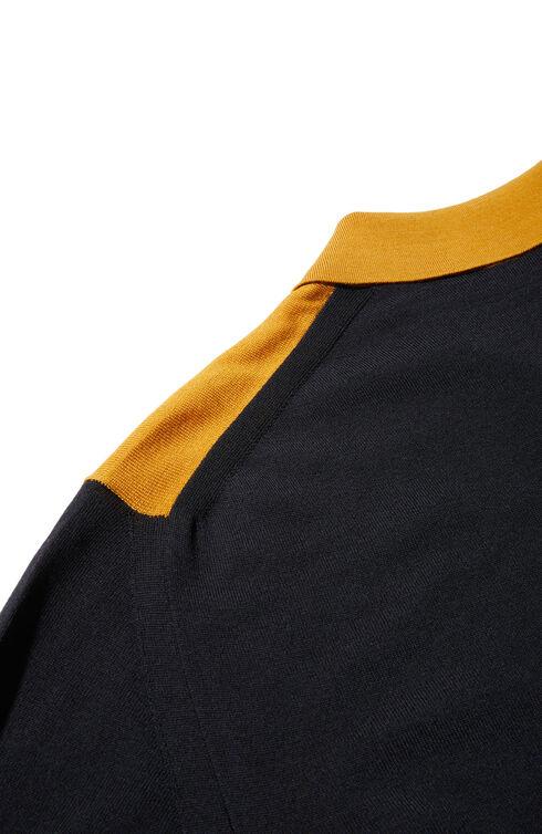 Slim fit Flexwool polo shirt with colour contrast , ZANONE Flexwool | Slowear