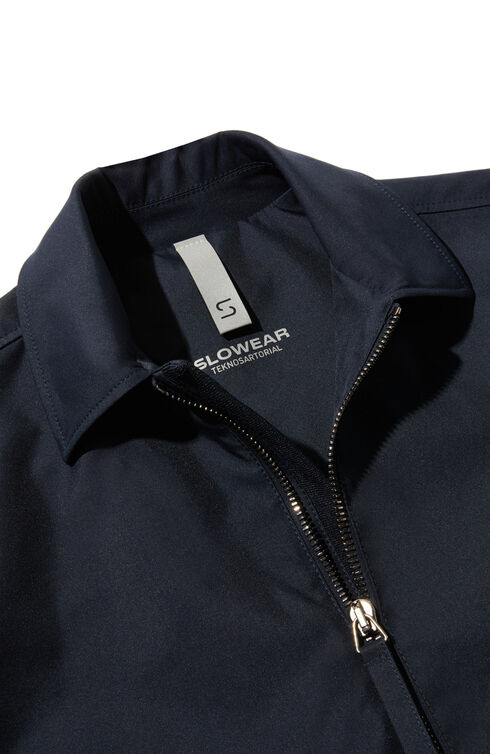 Jacket in water repellent technical fabric with contrast cotton inner lining , Slowear Teknosartorial | Slowear
