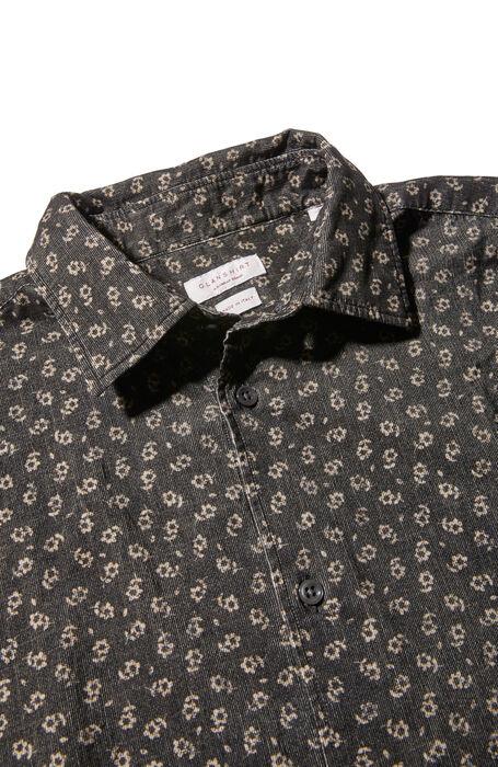 Regular fit classic collar cotton shirt with floral print , Glanshirt | Slowear