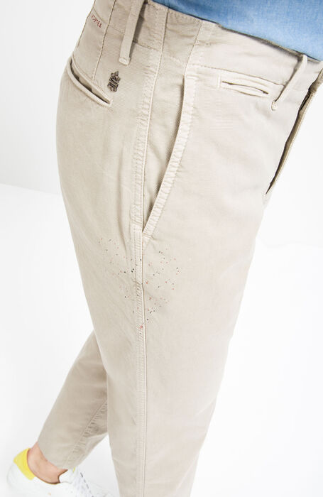 Pantalone Regular Fit in Cotone Stretch Beige , Incotex - Slacks | Slowear