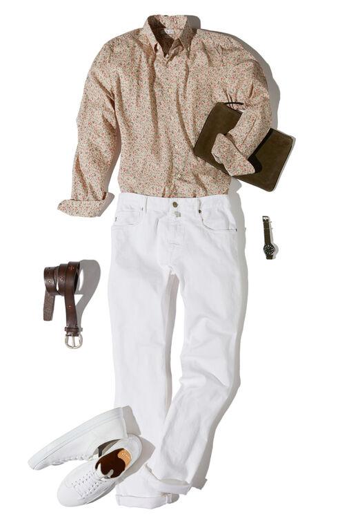 Regular-fit classic collar cotton shirt , Glanshirt | Slowear