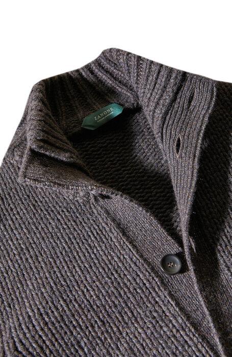 Brown merino wool and yak degradé effect Chioto , Zanone   Slowear