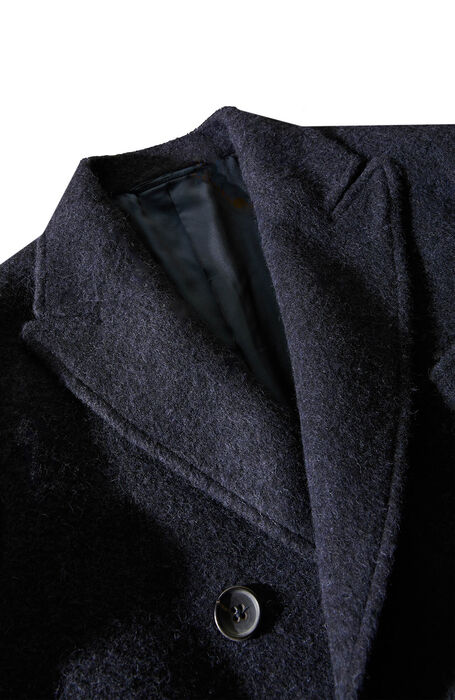 Double-breasted coat lined with Alpaca wool , Montedoro | Slowear